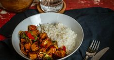 Teriyaki tofu recept | Street Kitchen Teriyaki Tofu, Rabbit Food, Gazpacho, Polenta, Chili, Superfood, Ricotta, Rice, Vegan