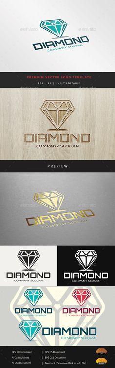 Diamond - Logo Design Template Vector #logotype Download it here: http://graphicriver.net/item/diamond/10943074?s_rank=570?ref=nexion
