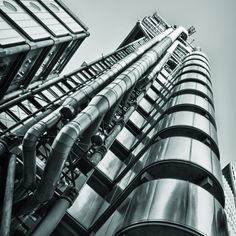 The Lloyds Building, London ©David Henderson. I've been here, and it's VERY cool.