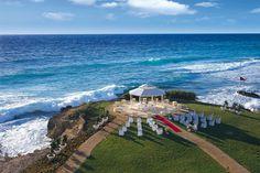 A destination wedding setup at Dreams Resorts in Cancun
