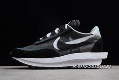 buy popular bb1de bb16d Sacai X Nike LDV Waffle Hybrid Black White Shoes Free Shipping New Release
