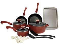 New New Paula Deen 15-Piece Kitchen Cookware Set Nonstick Pots Home Pans - Salmon ** Check this awesome product by going to the link at the image.