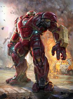 Avengers: Infinity War - Hulkbuster Unused concept ( by Phil Saunders) & DC Marvel Avengers, Iron Man Avengers, Marvel Comics Art, Marvel Comic Universe, Marvel Heroes, New Iron Man, Iron Man Art, Iron Men, Iron Man Hd Wallpaper