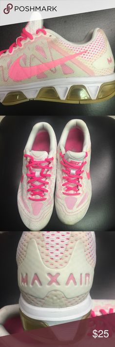 👟Women's Nike Air Max👟 👟Women's Nike Air Max Tail Wind 7 Running Shoe. Color is pretty pink & white, size 10. Lightweight, synthetic & mesh upper for maximum breathability. (Upper is mesh with no-sew overlays) EUC!!! Made in Vietnam 🇻🇳 Nike Shoes Sneakers