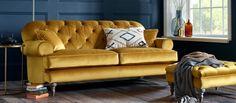 Elegant Home Design Ideas With A Gold Sofa Contemporary Sofa, Modern Sofa, Home Design, Design Ideas, Interior Design, Living Room Chairs, Living Room Decor, Velvet Furniture, Furniture Nyc