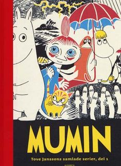 This Moomin book produced for Drawn and Quarterly. The Complete Tove Jansson Comic strip is a must have for any Moomin fan's library. Cloth quarter bound with an imitation cloth case, this is a beautiful volume much befitting the delights within. Tove Jansson, Moomin Books, Les Moomins, Grafik Design, Children's Book Illustration, Book 1, Comic Strips, Kitsch, Troll