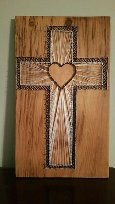Christian Cross String Art - Design Your Own! by DHStringTheory on Etsy https://www.etsy.com/listing/484893253/christian-cross-string-art-design-your