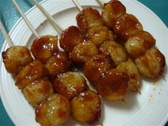 Filipino Carioca Recipe (Fried Sweet Rice Balls Dipped in Sweet Coconut Syrup)