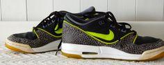 Wow! Girls NIKE AIR ASSAULT Sneakers GREY Lime Green 6 Y SAFARI BLACK Athletic  #Nike #Athletic