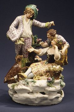 Pastoral Group Le Nove Porcelain Factory Parolin period  ca. 1781–90