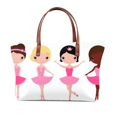 Tote bag with Dancing Kids pink Selling Online, Dancing, Lunch Box, Tote Bag, Pink, Stuff To Buy, Bags, Things To Sell, Handbags