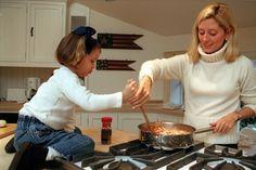 Crown Princess Marie-Chantal of Greece cooking