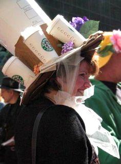 #NYC #Easter #Parade #Starbucks #bonnet