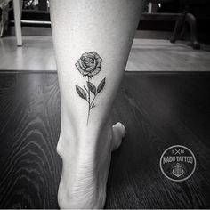 Rose tattoo by Kadu