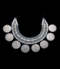 India | Silver Rupee necklace from Himachal Pradesh.  All of the genuine British Indian Silver Rupee bears the image of King George V as Emperor and dates from around 1919. | ca. 1920 | 1200£