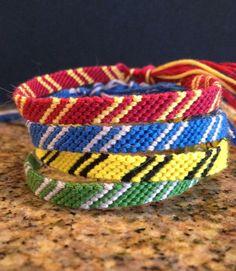Harry Potter House Friendship Bracelets!!!