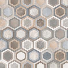 Serie de pavimento Rift en formato 23X26,6 cm., fabricada de porcelánico con acabado de hidraulico.