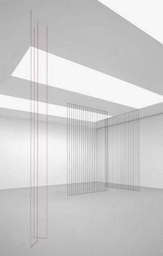 by Fred Sandback Contemporary Sculpture, Contemporary Art, Bauhaus, Modernisme, Art Nouveau, Light And Space, Oeuvre D'art, Art And Architecture, Installation Art