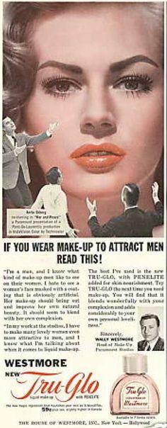 "Westmore ""Tru-Glo"" Makeup Ad, 1956"