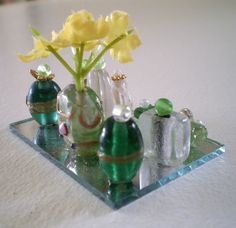 We made perfume & makeup using My Froggy Stuff directions. They are so adorable. - This picture is not of the ones we made.
