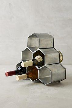 Anthropologie Honeycomb Wine Holder