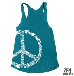 Womens Lace PEACE Sign american apparel TriBlend by ZenThreads, $19.00 any color (sm/med)