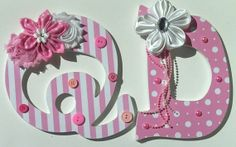 Baby Wall Letters - Decorated letters