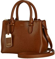 27b652da199b Lauren Ralph Lauren Newbury Mini Double Zip Satchel Leather Satchel Handbags