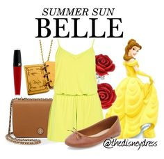 """""""Belle"""" by thedisneydress ❤ liked on Polyvore featuring Bling Jewelry, Tory Burch and Lancôme"""