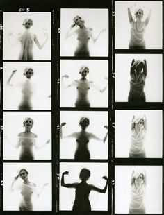\><\ Contact Sheet - marilyn monroe and Bert Stern Bert Stern, Rare Marilyn Monroe, Marilyn Monroe Photos, Rare Photos, My Photos, Black And White Scarf, Black White, Contact Sheet, Portrait Studio