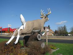 Giant deer in Deerwood, Minnesota