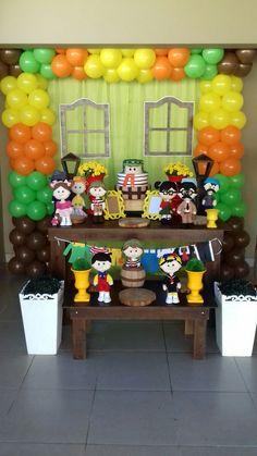 Decoração do Chaves Baby Boy 1st Birthday, 1st Birthday Girls, First Birthday Parties, First Birthdays, Simpsons Party, Birthday Party Tables, Baby Party, Party Time, Bernardo