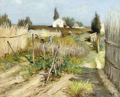 "catmota: ""Kitchen Garden in Provence (1950) Marcel Dyf more works by this artist """