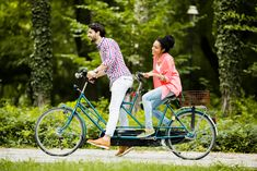Groupon - or Tandem Bike Rental for 2 or 4 from Huntington Beach Bargain Surfboard Massage Duo, Menu Ig Bas, Tandem Bicycle, Park In New York, Summer Romance, Athletic Men, Huntington Beach, Central Park, Fun Workouts