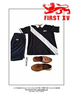 First XV Clothing. From the #summeressentials #menswear #wardrobemusthaves #shorts #chinos #loafers #shoes #D&G #watch #clothing #footwear #t-shirt #poloshirt Exclusively online from www.firstxv.uk