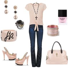"""""""pink and black"""" by wendyfer on Polyvore"""