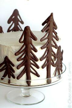 DIY Dark Chocolate Trees!