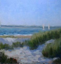 "Malihide sand dunes.oil on canvas.8"" x10""."