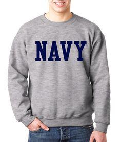NAVY BLOCK CREW NECK GRAY Military Sweatshirt Blend Seal US U.S.NAVY USNAVY #RockCityThreads #SweatshirtCrew