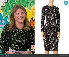 On Today, Today Show, Jenna Bush Hager, Long Sleeve Floral Dress, Business Casual, Casual Wear, Night Out, Dresses With Sleeves, Fashion Outfits