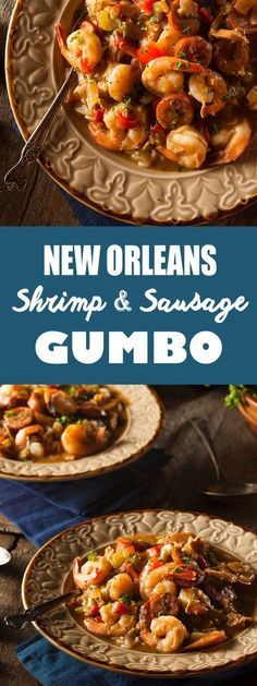 Try this delicious New Orleans Seafood Gumbo featuring fresh shrimp, crabmeat and oysters. Perfect on a cold day, every bite will transport you right to Bourbon Street. recipe cajun Recipe: New Orleans Seafood Gumbo Shrimp And Sausage Gumbo, Seafood Gumbo, Seafood Dinner, Seafood Buffet, Fresh Seafood, Cajun Recipes, Seafood Recipes, Crockpot Recipes, Healthy Recipes