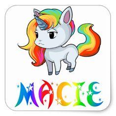 Macie Unicorn Sticker - diy cyo personalize design idea new special custom