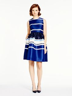 stripe fit and flare dress by kate spade new york