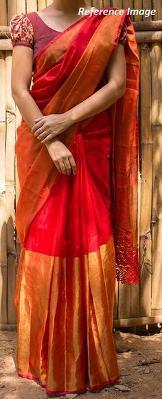 Check out this item in my Etsy shop https://www.etsy.com/in-en/listing/524303938/uppada-red-color-half-tissue-silk-saree