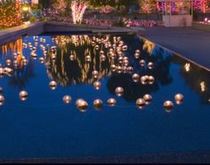 Floating Pool Candles to light outdoor area