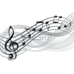 music notes: Musical notes staff background on white  Vector illustration