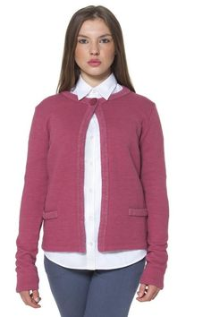 Cardigan Donna Fred Perry (BO-31452049 7140) colore Rosa