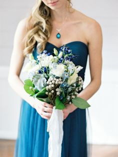 Blue hues: http://www.stylemepretty.com/north-carolina-weddings/holly-springs-north-carolina/2015/05/28/blue-metallic-wedding-inspiration-shoot/ | Photography: Live View Studios - http://www.liveviewstudios.com/