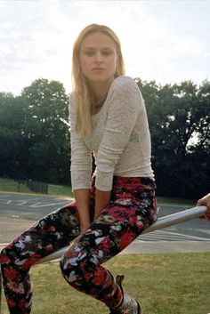 floral pants - urban outfitters