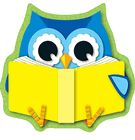 READING OWL MINI CUT OUTS by carson-dellosa (cd-120134)
